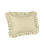 Hothaat Solid Ivory Queen 2Pc Ruffle Pillow Covers