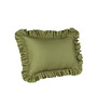 Hothaat Solid Moss King 2Pc Ruffle Pillow Covers