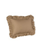 Hothaat Solid Taupe Large 2Pc Ruffle Pillow Covers