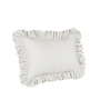 Hothaat Solid White Queen 2Pc Ruffle Pillow Covers