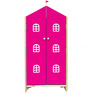 House Kids Small-Size Wardrobe in Pink Colour by KuriousKid