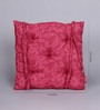 House This Berry Cotton 16 x 16 Inch Blooming Chair Pad