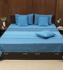 House This Blue Cotton Bed Cover