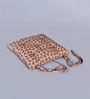 House This Brown Cotton 16 x 16 Inch The Chaotic Triangles Chair Pad