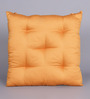 House This Ochre Cotton 16 x 16 Inch Solid Chair Pad