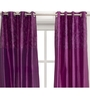House This Purple Polyester 90 x 48 Inch Solid Door Curtain - Set of 2