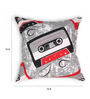 House This Red Cotton 16 x 16 Inch Gadgets-Cassette Cushion Cover