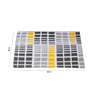 House This Yellow Cotton 35 x 24 Inch Checkered Door Mat