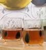 Huafu Green Speckle Dof 370 ML Whisky Tumbler - Set of 6