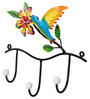 Wonderland Humming Bird Three Wall Hooks with 3 Hangers