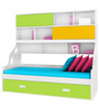 Hybrid Storage Bed in Multicolor Finish by Alex Daisy