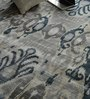 Hyde Park Blue & Beige Bamboo Silk & Cotton 118 x 78 Inch Hand Knotted Carpet