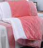 I Village Pink & White Dupion Silk 108 x 95 Inches Quilt