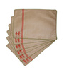 I Village Warli Girls Beige Dupion Silk Table Runner with Table Mats - Set of 7