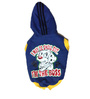 Iam the Boss Dog Hoodie in Blue (Size 20)