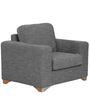 Iganzio One Seater Sofa in Ash Brown Colour by CasaCraft