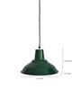 Ikkadukka Green Iron Bailey Light Pendant