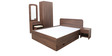 Pine Crest Bedroom Set(Wardrobe+Storage Queen Bed+Dressing Table+Side Table)