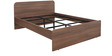 Imperial King Size Bed in Brown Colour by Pine Crest