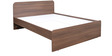 Imperial Queen Size Bed in Brown Colour by Pine Crest