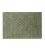 Imperial Knots Blue Brown Diamond Hand Tufted carpet