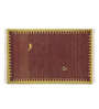 Imperial Knots Gabbeh Brown Woolen Solid Rectangular Hand Woven Rug