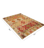 Imperial Knots Multicolour Wool 55.2 x 80.4 Inch Hand-Woven Vintage Kilim Area Rug