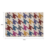 Imperial Knots Multicolour Wool 96 x 60 Inch Houndstooth Handwoven Flatweave Rug