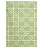 Imperial Knots Trellis Flatweave Green Wool Area Rug
