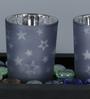 Importwala Mercury Star Votive Set with Tray - Set of 3