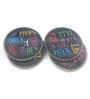 Importwala Typo Multicolour Ceramic Coaster - Set of 4
