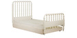 Indian Heritage Theme Single-Size Bed with Trundle in Ivory Finish by Pink Guppy