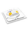 Inddus Square White  6W LED Flat Panel Light