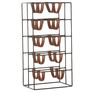 Indecrafts Black Color Iron Wine Rack