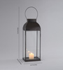 Indecrafts Black Iron Candle Lantern