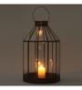 Indecrafts Black Iron Poly  Festive Lantern
