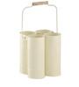 Indecrafts White Color Iron Bottle Rack