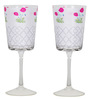 India Circus Floral Twinkles 200 ML Wine Glasses - Set of 2