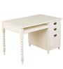 Indian Heritage Theme Desk in Ivory Finish by Pink Guppy