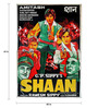 Indian Hippy Paper 40 x 60 Inch Shaan Vintage Unframed Bollywood Poster