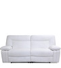 Indulge Leather Electric Three Seater Sofa Recliner in White Colour by HomeTown
