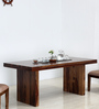 Trego Eight Seater Dining Table in Provincial Teak Finish by Woodsworth