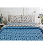 Inhouse by Maspar Leaf Print Blue 1 Double Bedsheet with 2 Pillow Cover