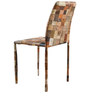 Innova Metallic Chair with Denim Label Patch Design by Inliving