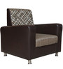 Innova One Seater Sofa in Brown Colour by Crystal Furnitech