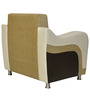 Shelby One Seater Sofa in Beige Colour by Crystal Furnitech