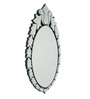 Chelmsford Decorative Mirror in Silver by Amberville