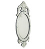 Bocconi Decorative Mirror in Silver by Amberville