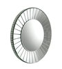Hestia Decorative Mirror in Silver by CasaCraft
