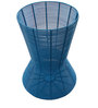 Iron Mesh End Table in Blue Colour by The Yellow Door